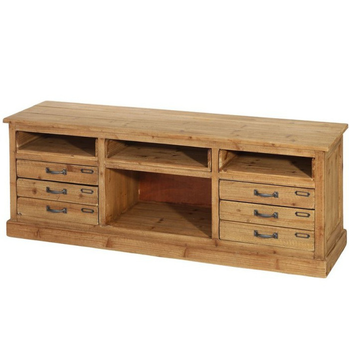 Porta tv legno massello naturale   offerte mobili etnici