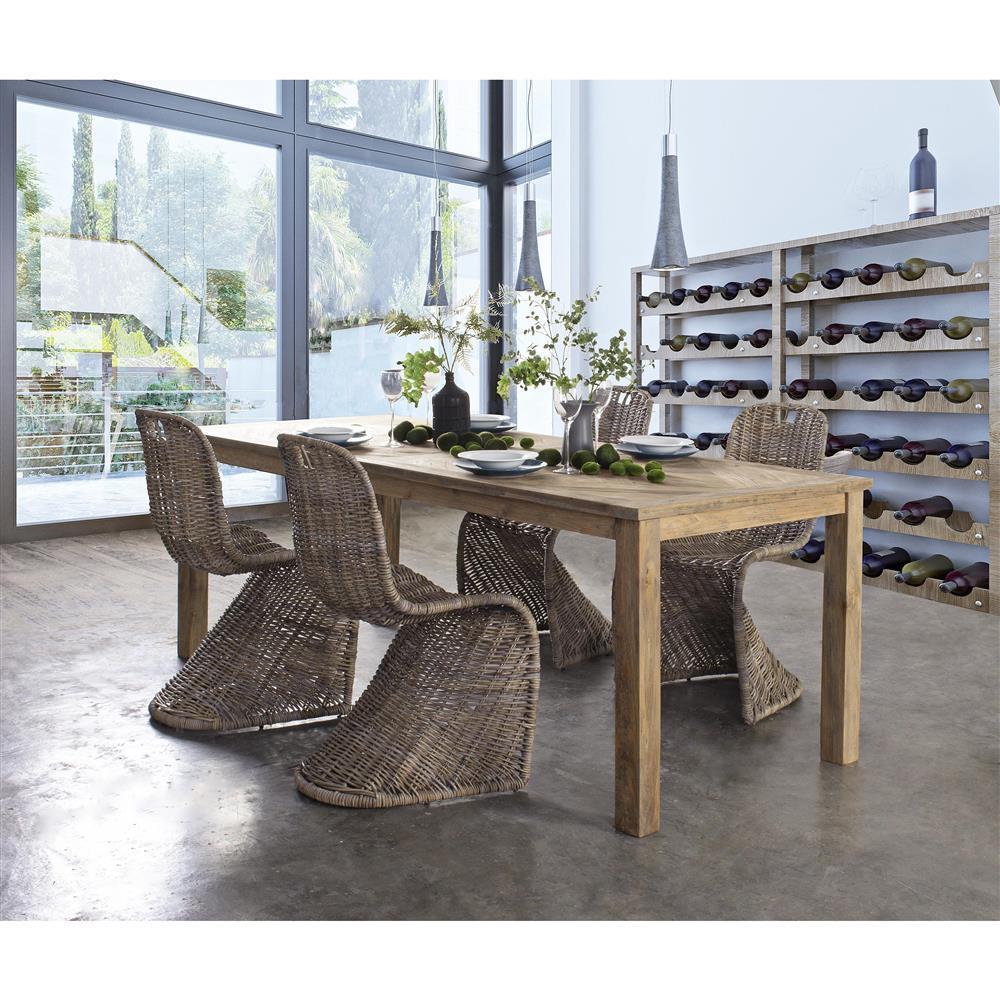 Sedia ferro e intreccio rattan sedie giardino online for Sedia tavolo pranzo
