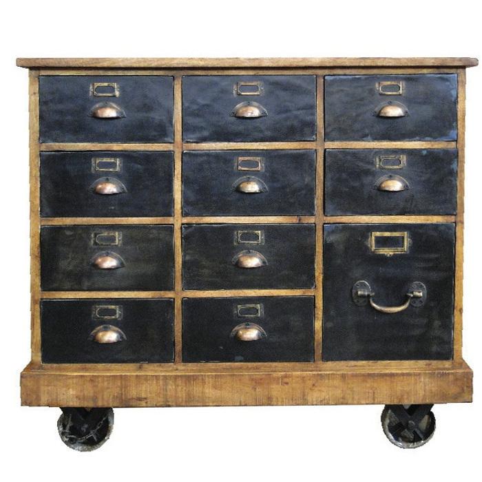 Cassettiera industrial chic mobili stile industriale for Cassettiera industriale vintage