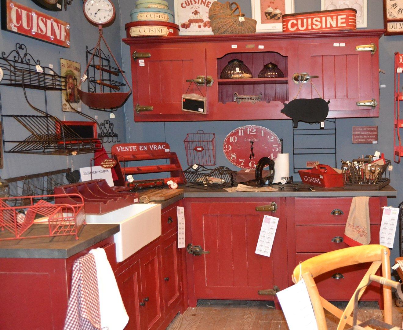 Buffet da cucina bordeaux mobili provenzali e shabby - Cucina bordeaux ...