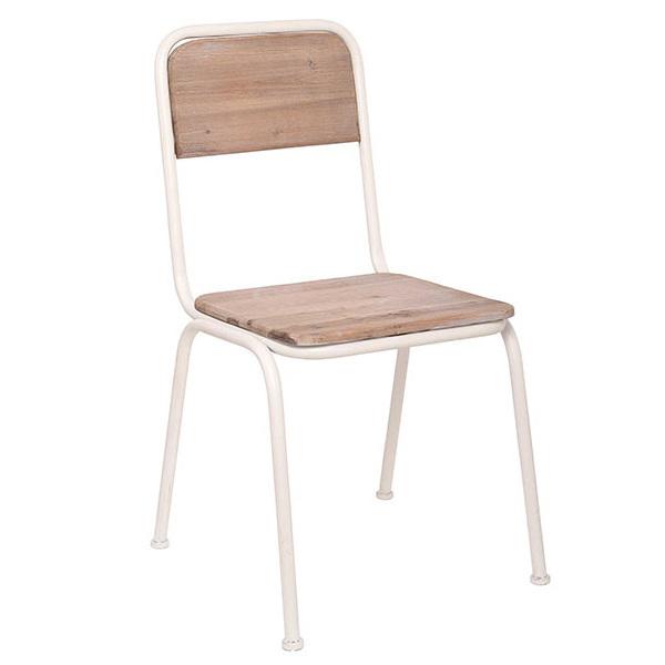 Sedia ferro e legno shabby sedie ferro battuto online for Sedie ferro legno