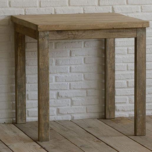 Tavolo quadrato legno naturale - Etnico Outlet mobili etnici