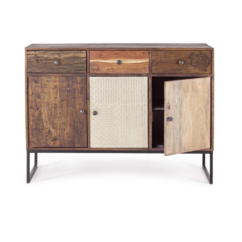 Buffet legno etnico chic mobili industrial online - Mobili tv vintage ...