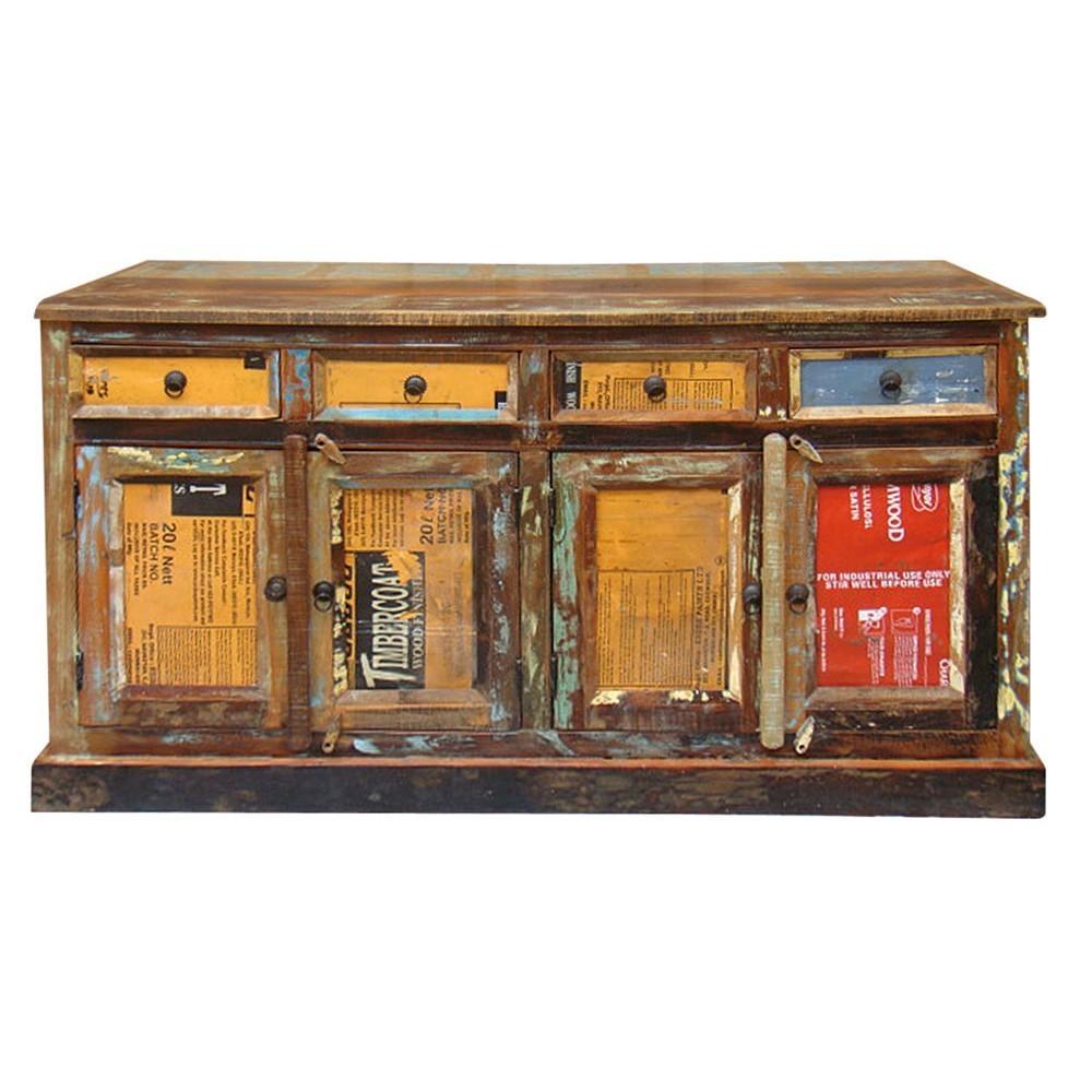 Credenza vintage legno etnico outlet mobili etnici online for Outlet online mobili