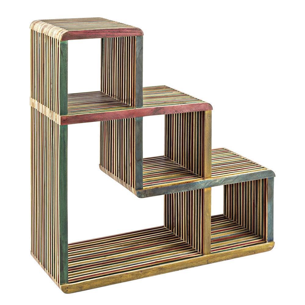 Mobile scala in legno massello teak mobili etnici - Mobili con legno riciclato ...