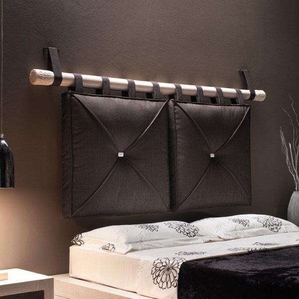 Testata canna bambù e cuscini brown - Etnico Outlet mobili ...