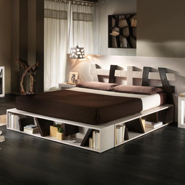 Grande letto con libreria op78 pineglen - Letto con libreria sotto ...