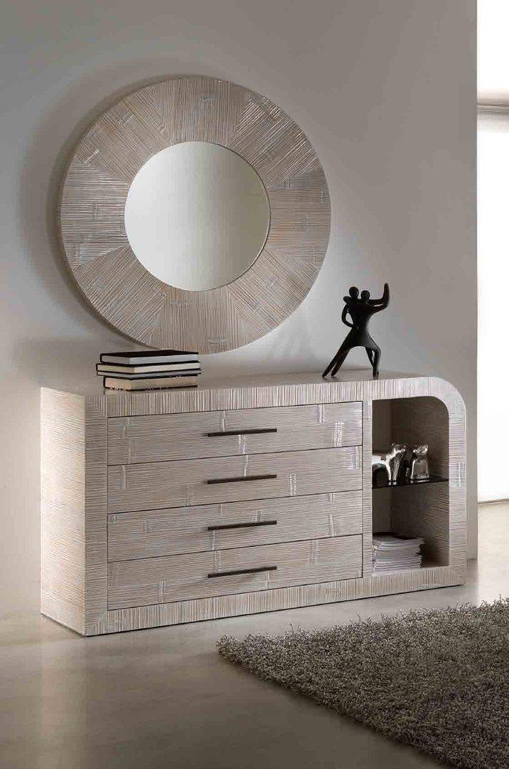 Specchio bamb tondo bianco - Specchio bianco ...