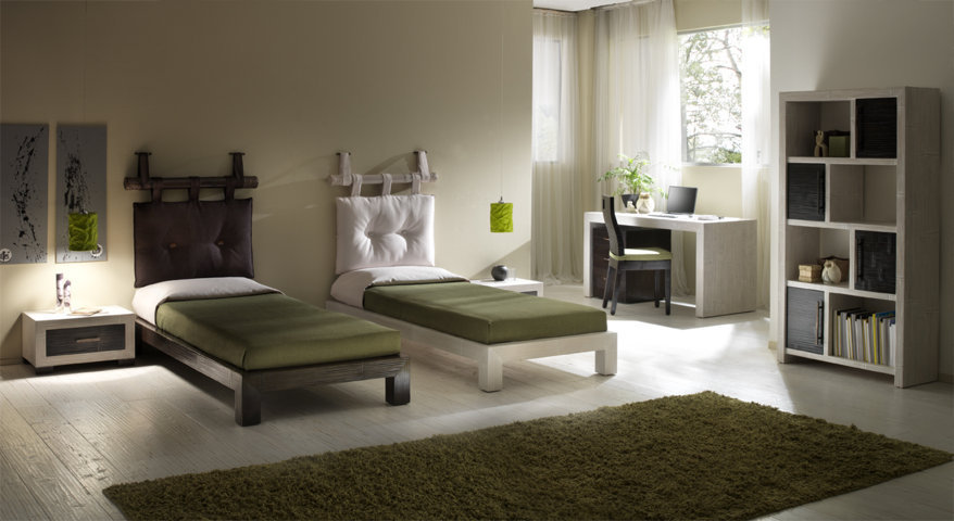 Testata bamb canna e cuscino brown testate letto online - Testate letto singolo ...