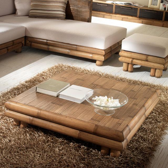 Tavolino bambù da salotto Tavolini bamboo