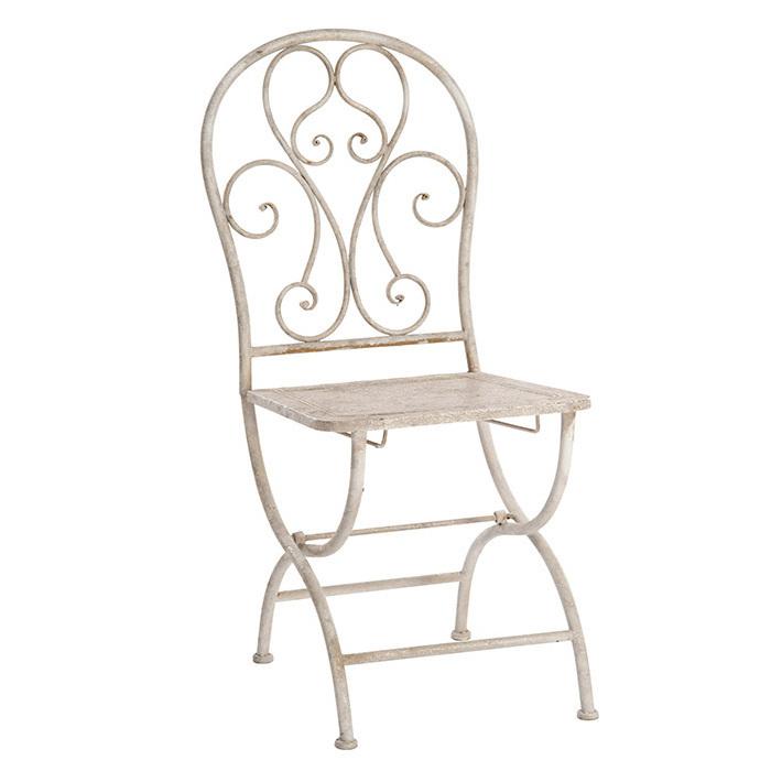 Sedia ferro battuto anticata - Etnico Outlet Mobili Etnici