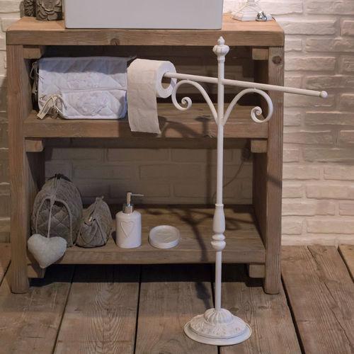 Accessori bagno ferro battuto etnico outlet mobili etnici - Mobile porta asciugamani ...