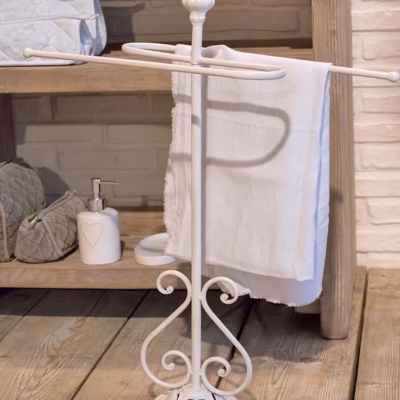 Porta asciugamano in ferro da terra for Porta asciugamani da terra