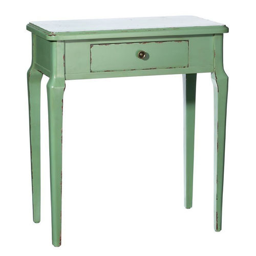 Consolle classica shabby verde