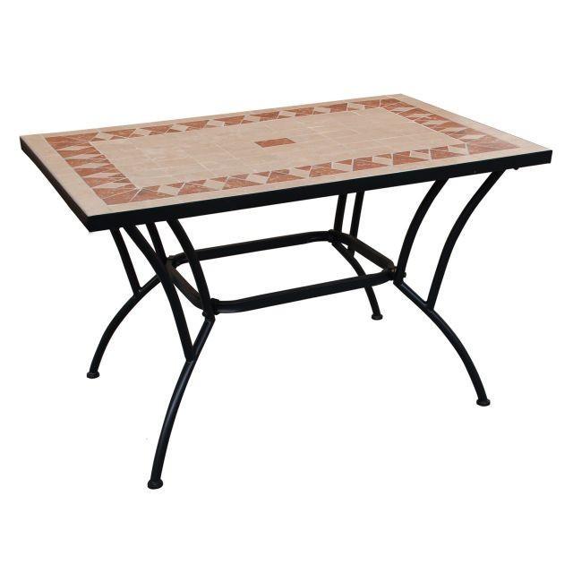 Tavolo in ferro top ceramica tavoli in ferro battuto e ceramica ix8145000 ebay - Tavoli da giardino in ferro battuto e mosaico ...