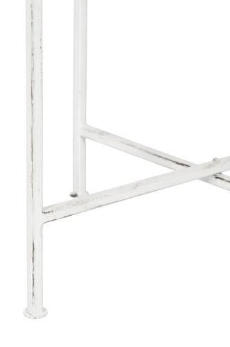 Set 2 tavolini metallo bianchi tavoli bassi sg habby chic for Tavolini bianchi