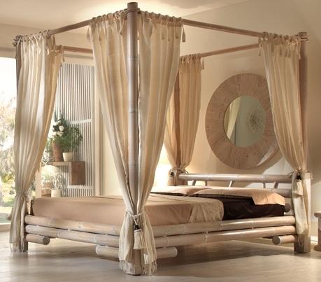 Set 8 tende per letto a baldacchino tenda per letti - Letto a baldacchino ...