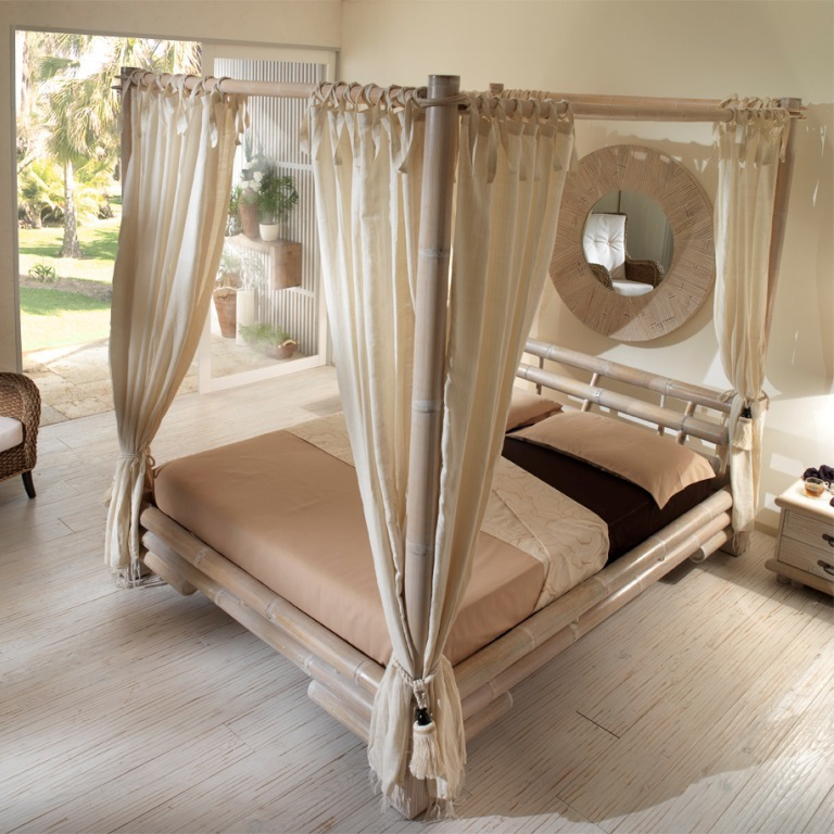 Set 8 tende per letto a baldacchino - Etnico Outlet Mobili Etnici