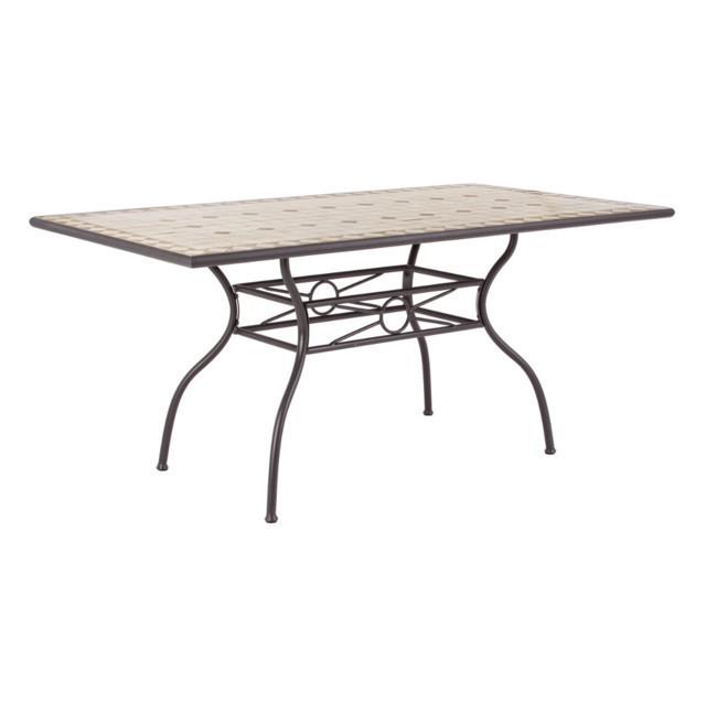 Tavolo ferro battuto mosaico mobili giardino online - Tavolo ferro battuto ...