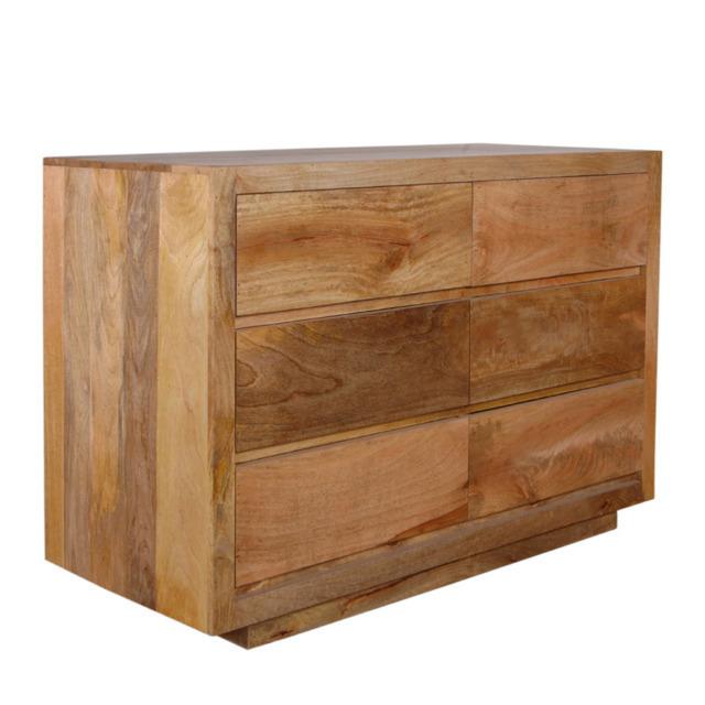 Cassettiera etnica legno naturale mobili etnici vendita online - Mobili legno naturale ...
