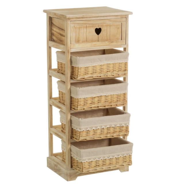 Cassettiera con cestini legno mobili provenzali e shabby for Cassettiera legno