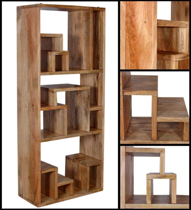 Libreria etnica legno naturale librerie e mobili etnici - Mobili legno naturale ...