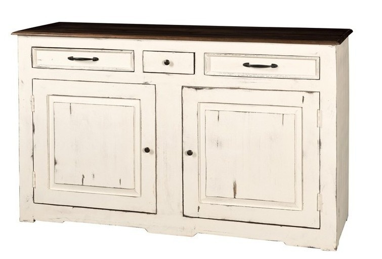 Credenza bianca country chic 150 mobili shabby chic online for Credenza shabby chic online