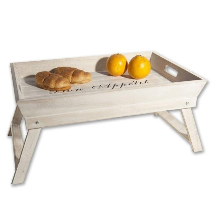 Vassoio letto legno - Vassoio per colazione a letto ...