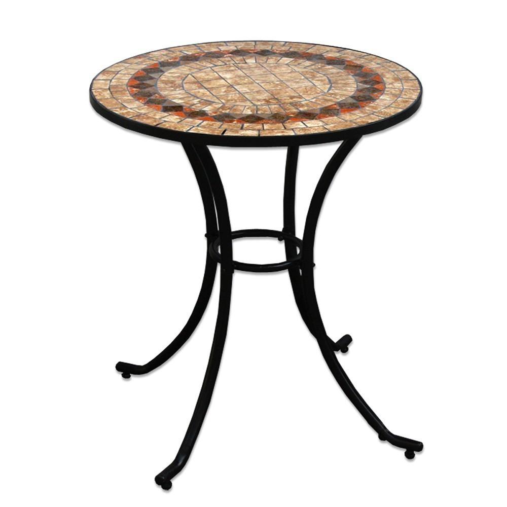 TAVOLO ROTONDO IN FERRO BATTUTO tavoli rotondi in ferro e ceramica LDK82467  eBay