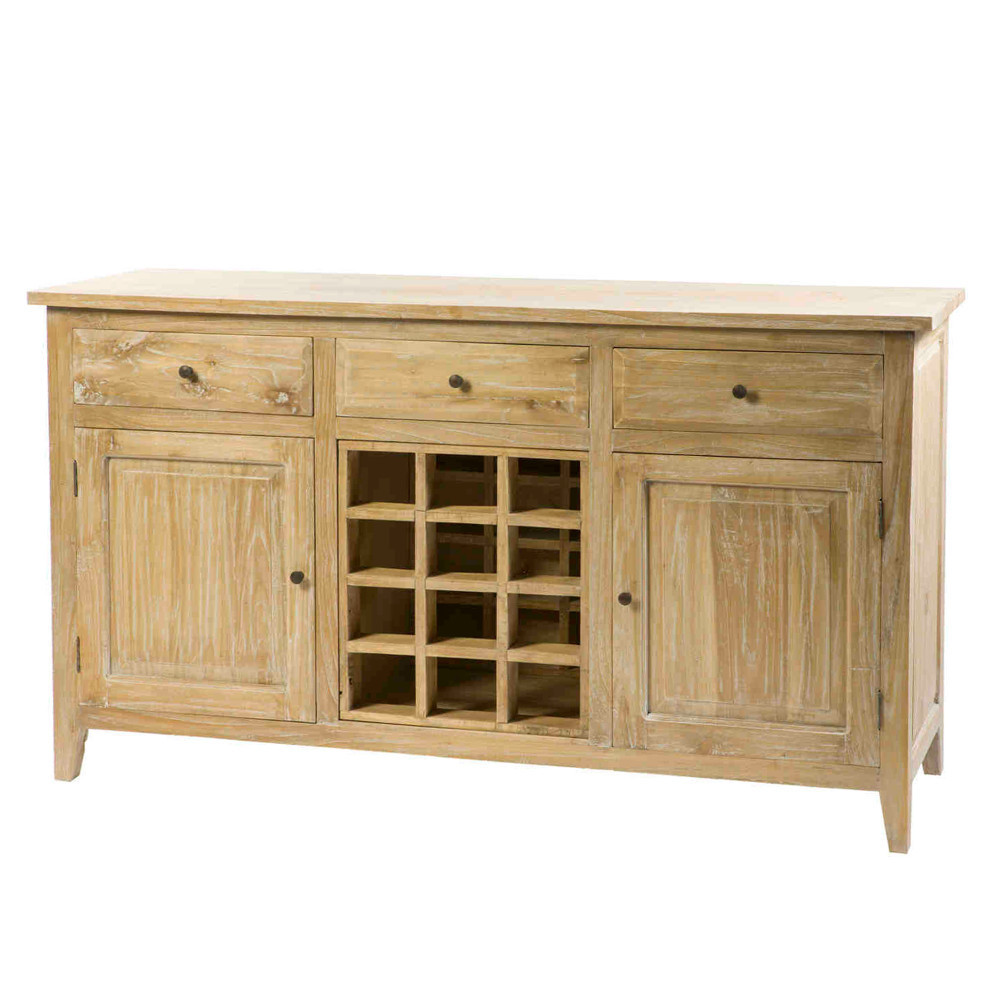 Credenza portabottiglie natural chic etnico outlet mobili for Outlet mobili etnici