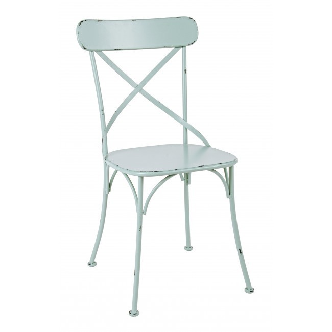 Sedia cross ferro verde sedie verdi online for Sedia a dondolo verde