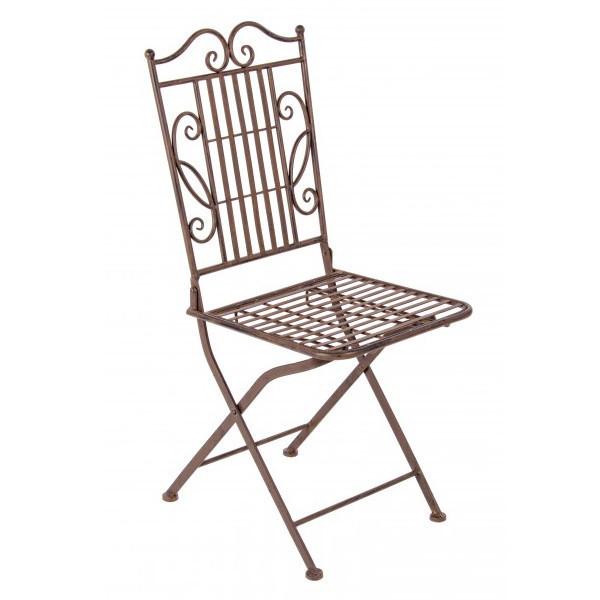 Sedia ferro battuto anticato - Etnico Outlet Mobili Etnici