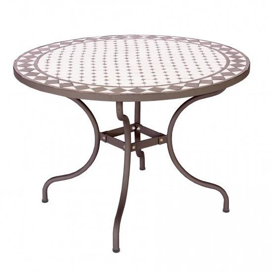 Tavolo giardino con mosaico tavoli giardino offerte - Tavoli da giardino in ferro battuto e mosaico ...