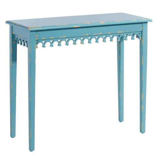 Consolle francese azzurro shabby