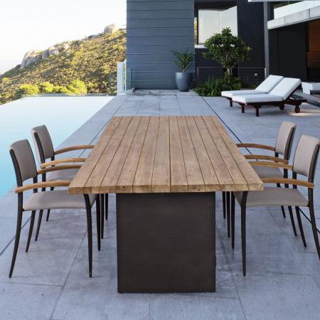 Tavolo etnico da giardino teak tavoli esterno etnici for Offerte tavoli da esterno