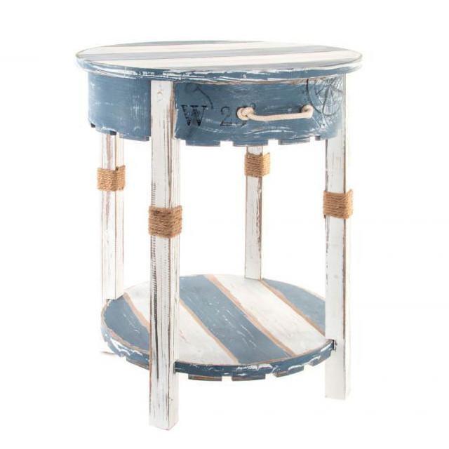 Tavolino stile marinaro in legno salotti provenzali - Mobili stile marinaro ...