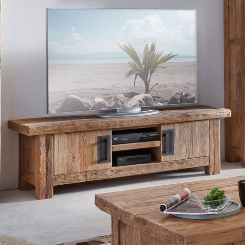 Porta tv in teak riciclato