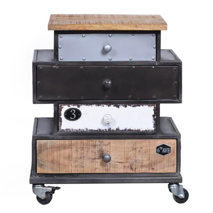 Comodino mobiletto industrial retr mobili stile industriale for Mobili buffet bassi