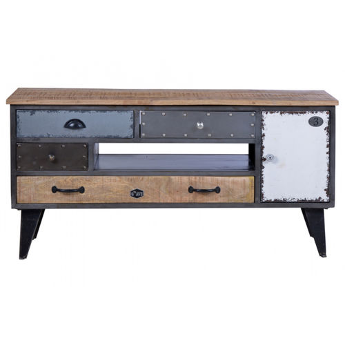 porta tv industrial e vintage vendita online con sconti 70. Black Bedroom Furniture Sets. Home Design Ideas