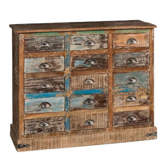Cassettiera vintage legno riciclato online Mobili vendita online