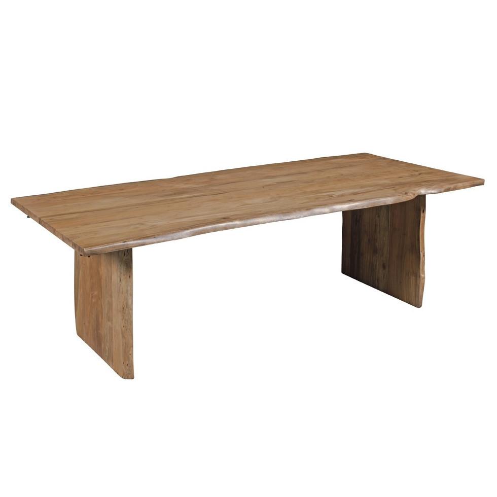 Tavolo legno naturale sheshaam massello etnico outlet mobili for Tavolo legno naturale