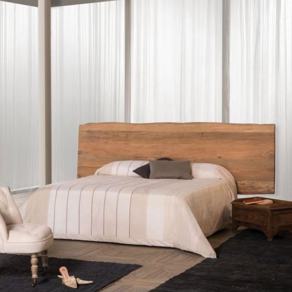 Testata letto legno sheshaam massello naturale mobili etnici - Testata letto legno ...
