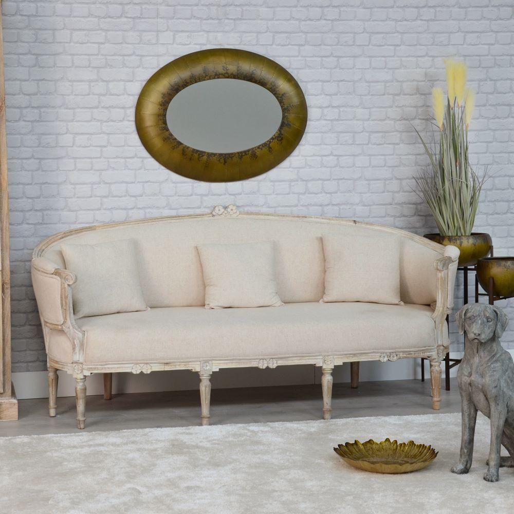 Divano francese legno decapato divani provenzali online for Divano in francese