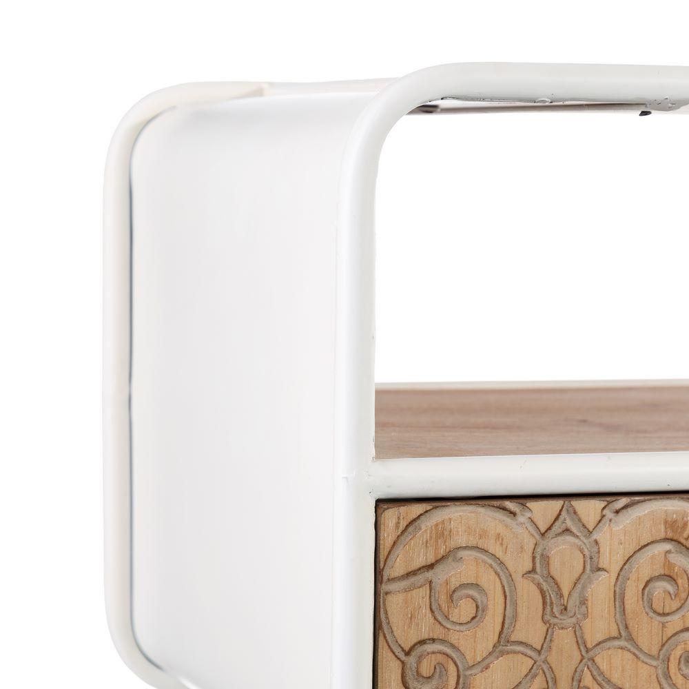 Porta tv stile nordico legno e ferro bianco mobili online for Mobili on line