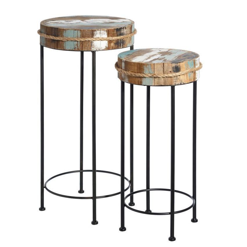 Set due tavolini industrial chic mobili stile industriale for Mobili buffet bassi