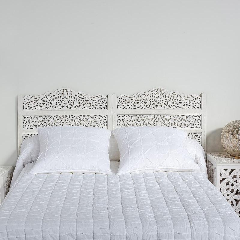 Testata letto murale bianco shabby offerte online - Testate letto shabby ...