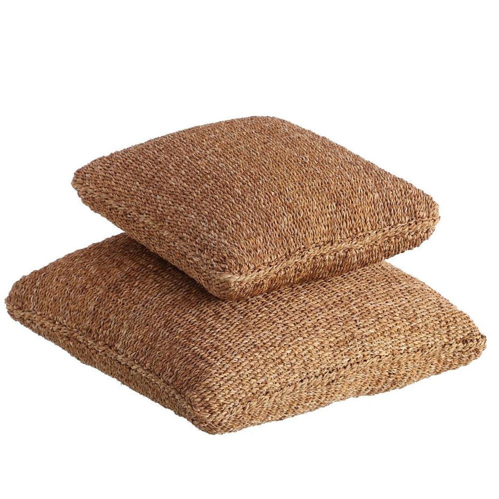 Pouff fibre naturali junco e cocco sedute etniche online for Fibre naturali