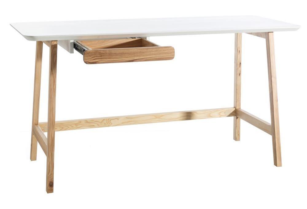 Scrivania Vintage Legno : Scrivania legno naturale e bianco vintage ufficio stile vintage