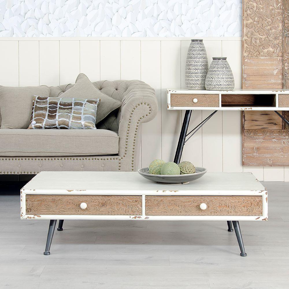Tavolino bianco stile nordico shabby mobili nordici online - Mobili stile nordico ...