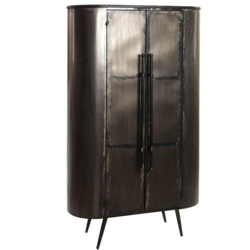 Cool armadio metallo nero invecchiato industrial with for Armadio metallico ikea